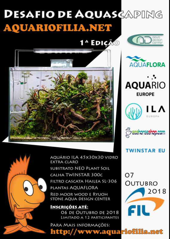 Inscrição 1ª Edição do Desafio de Aquascaping Aquariofilia.Net